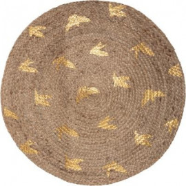 Dywan okrągły z juty , Ø 80 cm BOHO lurex HIT