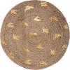 Dywan okrągły z juty , Ø 80 cm BOHO LIBERTY HIT