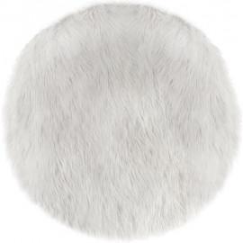 Dywan okrągły biały EXTRA MIĘKKI , Ø 90 cm HIT