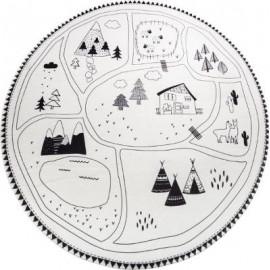 Dywan okrągły biały górski, Ø 90 cm HIT