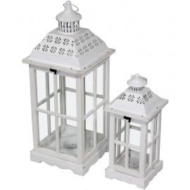 LAMPION DREWNO+METAL UCHWYT KOMP. SZT.2 h-73 h-55