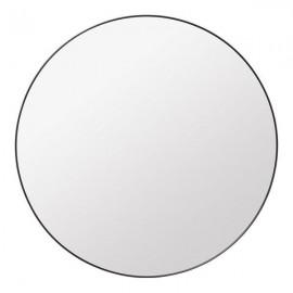 Lustro okrągłe 80 cm czarna aluminiowa rama ścienne