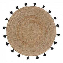 Dywan Ø 120 cm okrągły z juty BOHO shira HIT