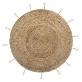 Dywan Ø 120 cm okrągły z juty BOHO sanda gold HIT