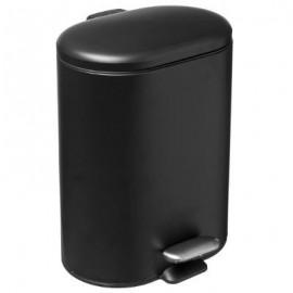 Kosz łazienkowy pojemnik na śmieci metal czarny 6L
