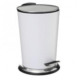 Kosz łazienkowy pojemnik na śmieci metal biały 3L