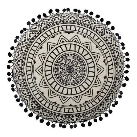 Poduszka dekoracyjna okrągła delhi , boho 40 cm