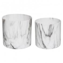 donica doniczka 2 szt zestaw z ceramiki, marmur HIT