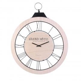 Zegar drewnie 57 cm NATURA