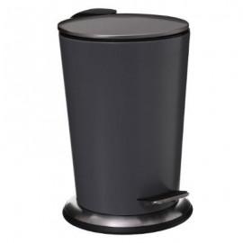 Kosz łazienkowy pojemnik na śmieci metal szary 3L