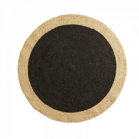 Dywan okrągły z juty , Ø 120 cm BOHO czarny HIT