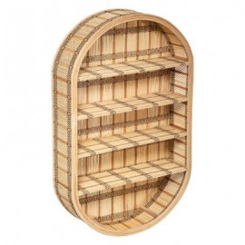 Półka ścienna bambusowa 91x56 cm