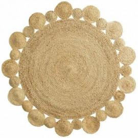 Dywan Ø 120 cm okrągły z juty BOHO CORD HIT