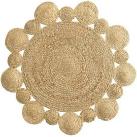 Dywan Ø 90 cm okrągły z juty BOHO CORD HIT