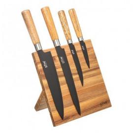 Noże kuchenne na stojaku magnetycznym 4 szt