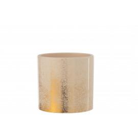 donica doniczka złota z ceramiki, HIT