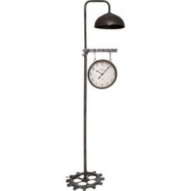 Lampa podłogowa z zegarem w stylu LOFT h-188